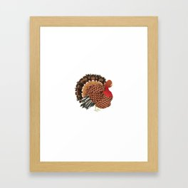 Cartoon turkey Framed Art Print