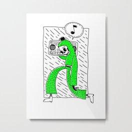 Boombox grn Metal Print
