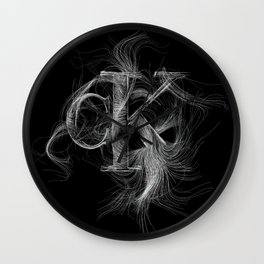 Artistic Calvin Klein Logo Line Art Wall Clock