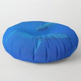 Underwater Humpbacks 5 Floor Pillow