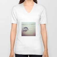 fishing V-neck T-shirts featuring FISHING by Kath Korth