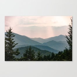 Smoky Mountain Pastel Sunset Canvas Print