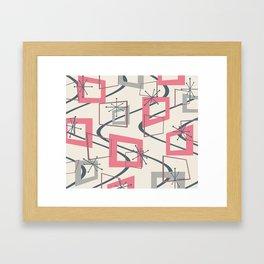 Mid Century Modern Minimalism Framed Art Print
