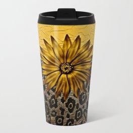 Animal Print Brown and Gold Animal Medallion Travel Mug