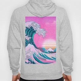 Vaporwave Aesthetic Great Wave Off Kanagawa Hoody