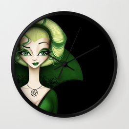 The Witch of Salem Wall Clock