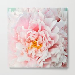 Peony Flower Photography, Pink Peony Floral Art Print Nursery Decor A happy life - Peonies 2 Metal Print