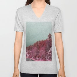 Pink Norway - The Forest Unisex V-Neck