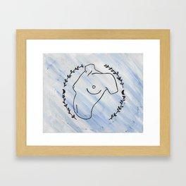 Nude Laurels Framed Art Print