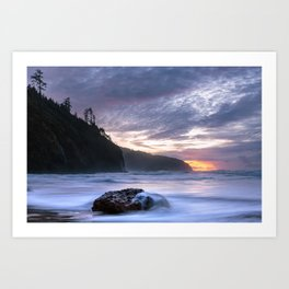 Cape Lookout Sunset Art Print