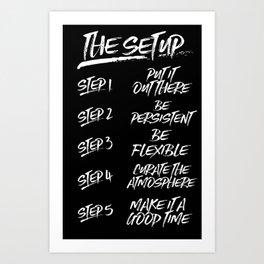 The Setup | Simple Art Print
