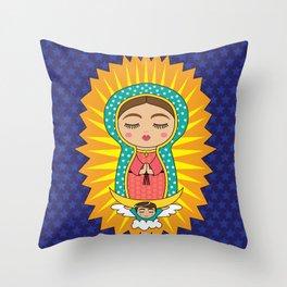 La Virgen de Guadalupe Throw Pillow