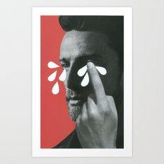 Big boys cry Art Print