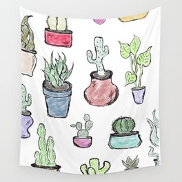 Plants and Cacti Wall Tapestry