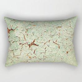 Cracked Wall Texture Green Rectangular Pillow