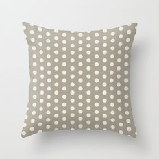 Polka Dot Alabaster Blue Gray Throw Pillow