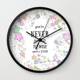 Never too Old to Wish a Pretty Star Wall Clock