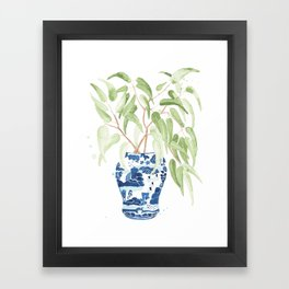 Ginger Jar + Eucalyptus Framed Art Print