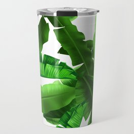 tropical banana leaves pattern Travel Mug