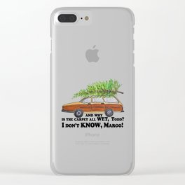 I don't KNOW, Margo Clear iPhone Case
