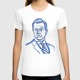 Stephen Colbert in Blue T-shirt