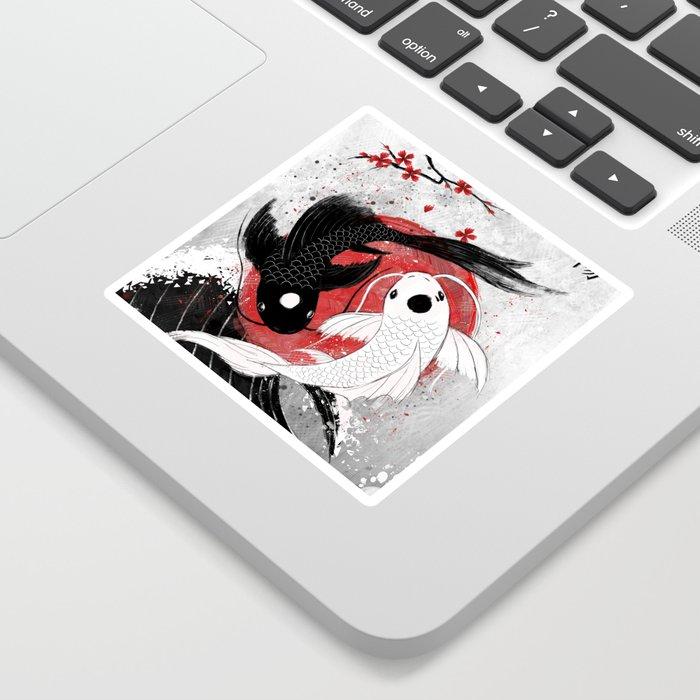 Koi fish - Yin Yang Sticker