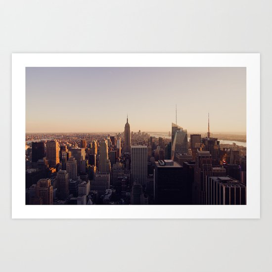 another Empire State Building shot | colored Art Print