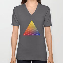 Lichtenberg-Mayer Colour Triangle recoloured remake, based on Mayer's original idea and illustration Unisex V-Neck