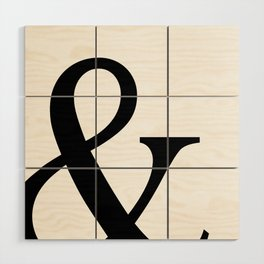 Typography, Ampersand, And Sign Wood Wall Art