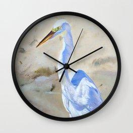 Boca White Egret Wall Clock