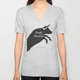Ernest Hemingway book cover & Poster, Death in the Afternoon, bullfighting stories Unisex V-Neck