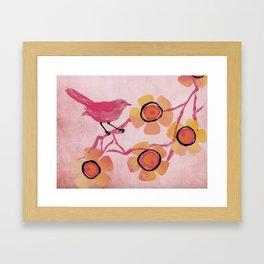 Pink Bird Framed Art Print