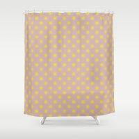 dessert Shower Curtains featuring dessert sun pat. by gasponce