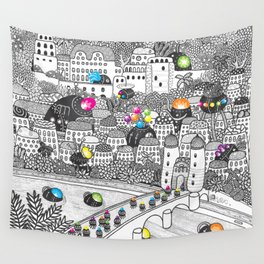 Locals Only - Heidelberg, Germany Wall Tapestry