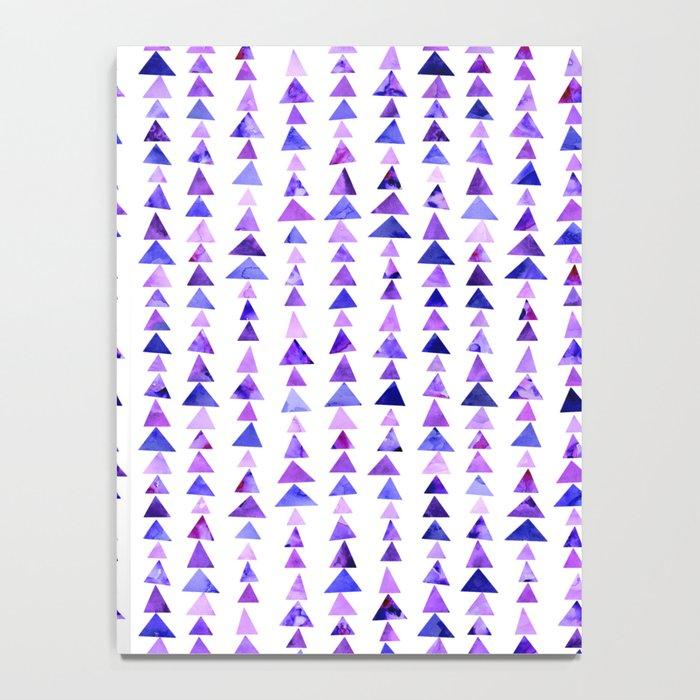 Purple Triangles Pattern 02 Notebook
