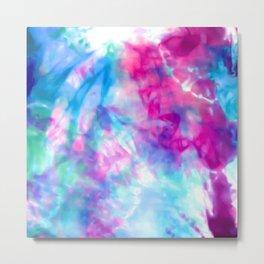Cool Artsy Girly Purple Pink Blue Tie Dye Pattern Metal Print