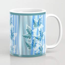 Modern stripes and painterly Ivy leaves Coffee Mug