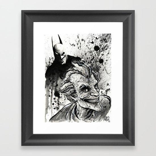 Joker: Arkham Smiles Framed Art Print