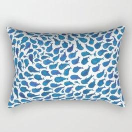 Blue Whales Rectangular Pillow