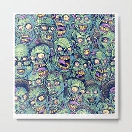 Zombie Repeatable Pattern Metal Print