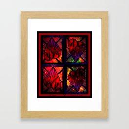 Mi Corazon (My Heart) - Symmetrical Art 3 Framed Art Print