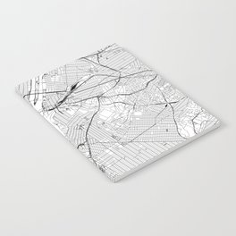 New York City White Map Notebook