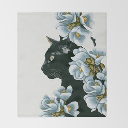 cat 2 Throw Blanket