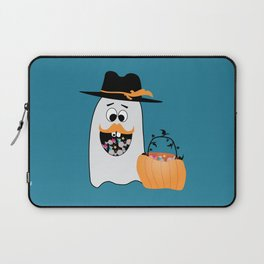 Silly Halloween Ghost Wants Your Candy Laptop Sleeve