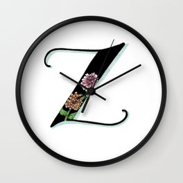 zinnia Wall Clock