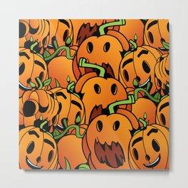 Pumpkin Mania Metal Print