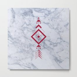 Marble with arrow Metal Print