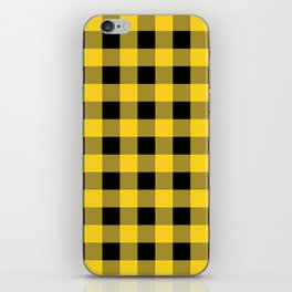 Yellow Buffalo Check iPhone Skin