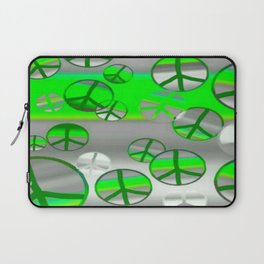 Green and Grey Peace Laptop Sleeve
