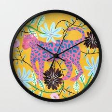 Pink Jaguar Wall Clock